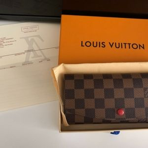 Authentic Louis Vuitton Checkered Emilie Wallet